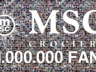 MSC 1 milione 320x240 - Un milione di fan su Facebook per MSC Crociere, raggiunto e superato il traguardo
