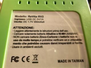 test revita rv2 assodigitale 8 320x240 - Caricabatterie Universale ReVita: ANCHE PER BATTERIE TRADIZIONALI!