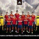alcuni giocatori della spagna alla presentazione della nuova maglia per la confederations cup 150x150 - La nuova maglia della Spagna: Adidas svela (alcune) tecnologie per la Confederations Cup 2013