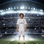 marcelo indossa la nuova maglia del Real Madrid 150x150 - La nuova maglia del Real Madrid stagione 2013/2014: Adidas conferma il Climacool