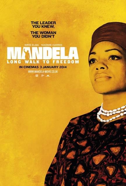 mandela long walk to freedom naomie harris poster uk mid - Idris Elba, dall'apocalisse di Pacific Rim a Mandela, ecco il trailer di Long Walk to Freedom