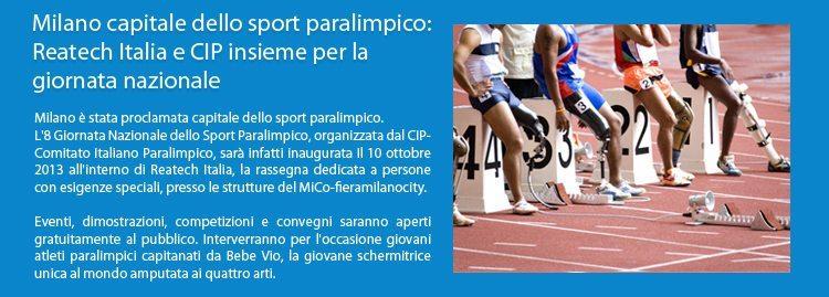 Reatech MiCo – fieramilanocity la Giornata Nazionale dello Sport Paralimpico organizzata dal CIP - Comitato Italiano Paralimpico