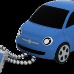 fiat 500 blue 3 4 chaine close 150x150 - La nuova fiat 500 diventa una splendida chiavetta  USB ecco Fiat Flash Drive 2.0