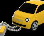 fiat 500 yellow 3 4 chaine close 150x123 - La nuova fiat 500 diventa una splendida chiavetta  USB ecco Fiat Flash Drive 2.0