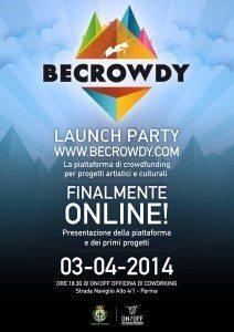BeCrowdy Launch Party 212x300 - Presto online BeCrowdy, la nuova piattaforma di crowdfunding per la cultura