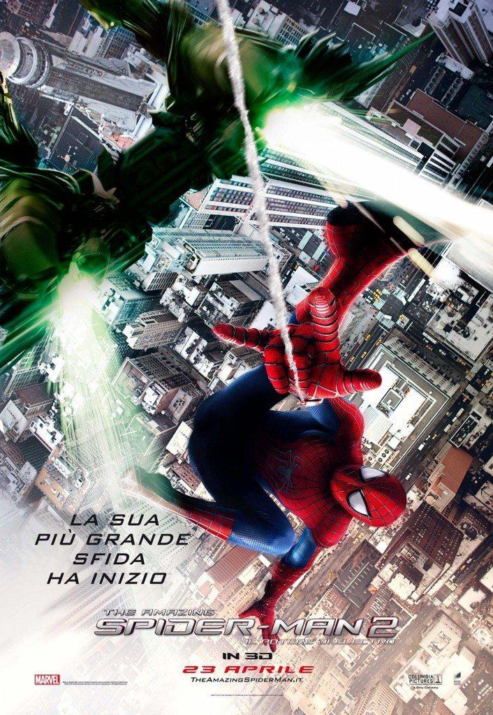 The Amazing Spider Man 2 Il Potere di Electro Poster Italia 01 706x1024 - Spidy, Green Goblin e Rhino nei nuovi poster di The Amazing Spider-Man 2
