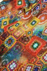 Esempio di tessuto stampato in digitale con Monna Lisa 9160