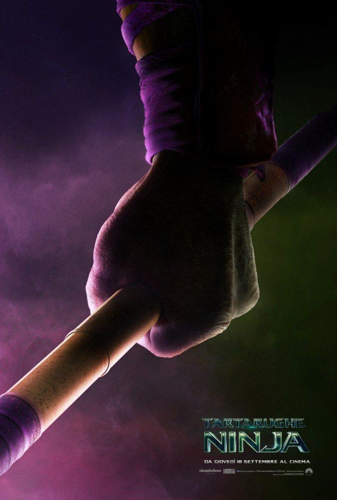 Tartarughe Ninja Teaser Poster Italia Donatello