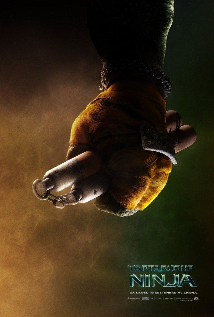Tartarughe Ninja Teaser Poster Italia Michelangelo