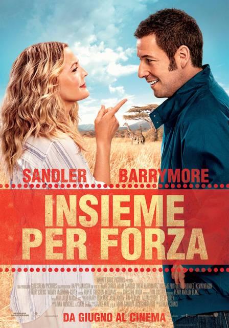 insieme per forza poster italia 01 mid - Insieme per Forza - Prima clip in italiano per la commedia con Drew Barrymore e Adam Sandler
