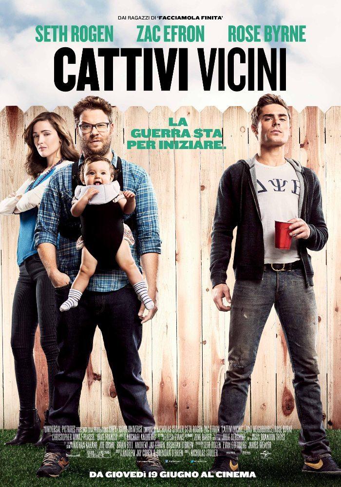 Cattivi Vicini Poster Italia 01 - Cattivi Vicini - Seth Rogen e Zac Efron sull'orlo di una guerra nel poster italiano