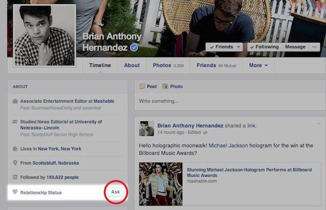 facebook tasto chiedi se single - Chiedimi se sono single: Facebook e il pulsante ask al servizio di Cupido