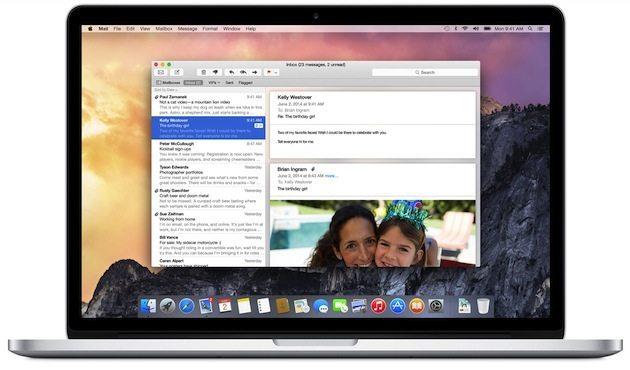 apps mail hero - Apple presenta OS X Yosemite: Completamente nuovo, completamente Mac