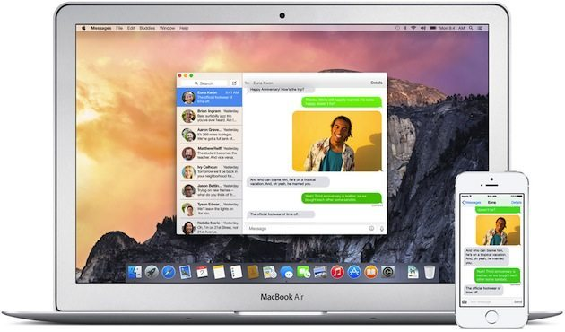 apps messages hero - Apple presenta OS X Yosemite: Completamente nuovo, completamente Mac