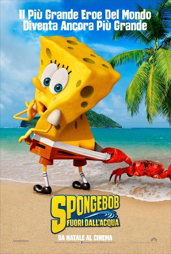 content italy teaser 1 sheet 1 - Ecco il Teaser Poster Italiano di Spongebob - Fuori dall'acqua