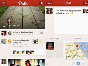 path social network 300x225 - La privacy prima di tutto: Path introduce i messaggi che si cancellano automaticamente