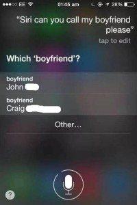 Siri e fidanzati 200x300 - Tra moglie e marito, non mettere Siri. L'assistente per iPhone che svela i tradimenti