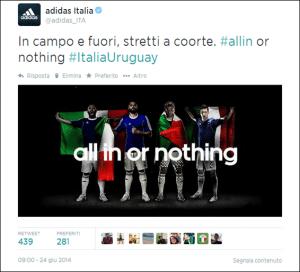adidas world cup social media