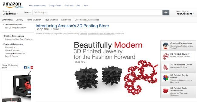 amazon store stampa 3d 2 - Stampa 3D: Amazon apre store online