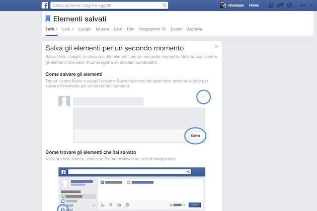 pulsante Salva su Facebook 2 - Arriva il pulsante 'Salva' per non perdere nessuna notizia su Facebook