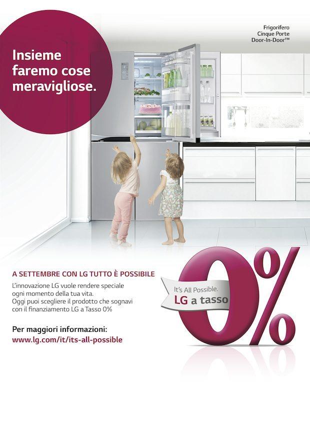A4 Its All Possible - Finanziamento a tasso zero per Smartphone, Monitor, Frigoriferi e Lavatrici da LG
