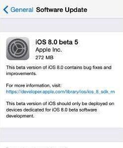 Apple iOS 8 Beta 5