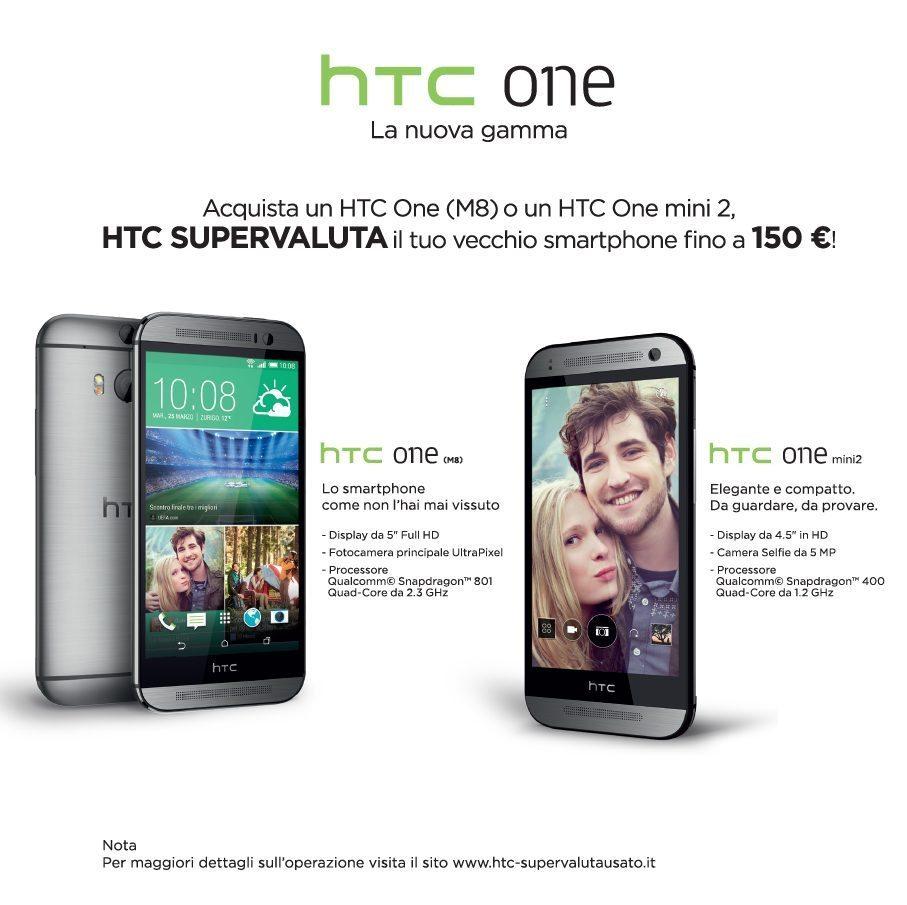 HTC Supervaluta il tuo usato - Supervalutazione smartphone usati: ritiro a fronte di un acquisto del HTC ONE M8 e MINI 2