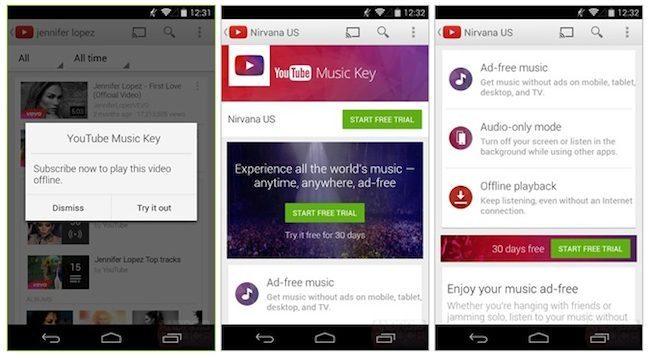 youtube music key 8