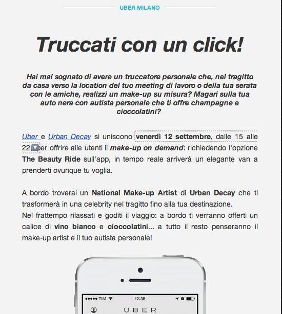 Uber e scioperi Taxi settimana moda 3 - Sciopero dei Taxi a Milano durante la Settimana della Moda. Uber risponde con make-up on demand