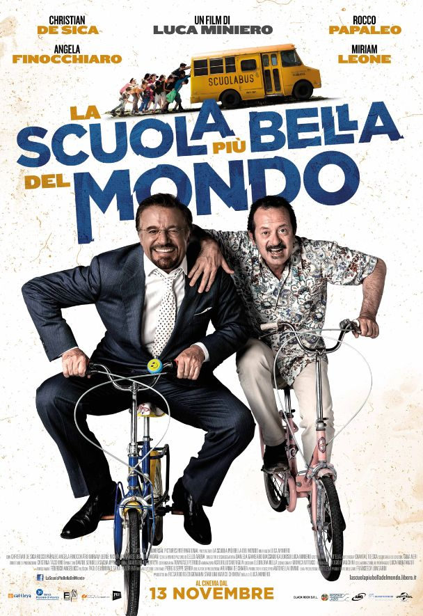 La Scuola Più Bella del Mondo Poster Italia 01 1 - Christian De Sica e Rocco Papaleo nelle prime clip de La scuola più bella del mondo