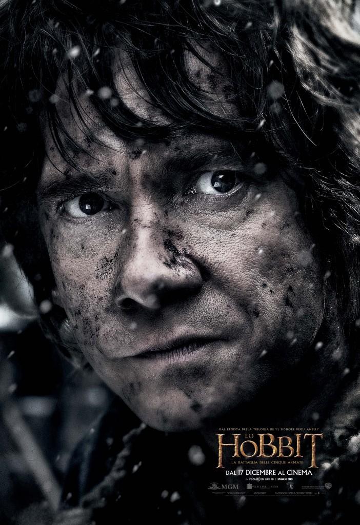 Lo Hobbit La Battaglia delle Cinque Armate Bilbo Teaser Character Poster Italia