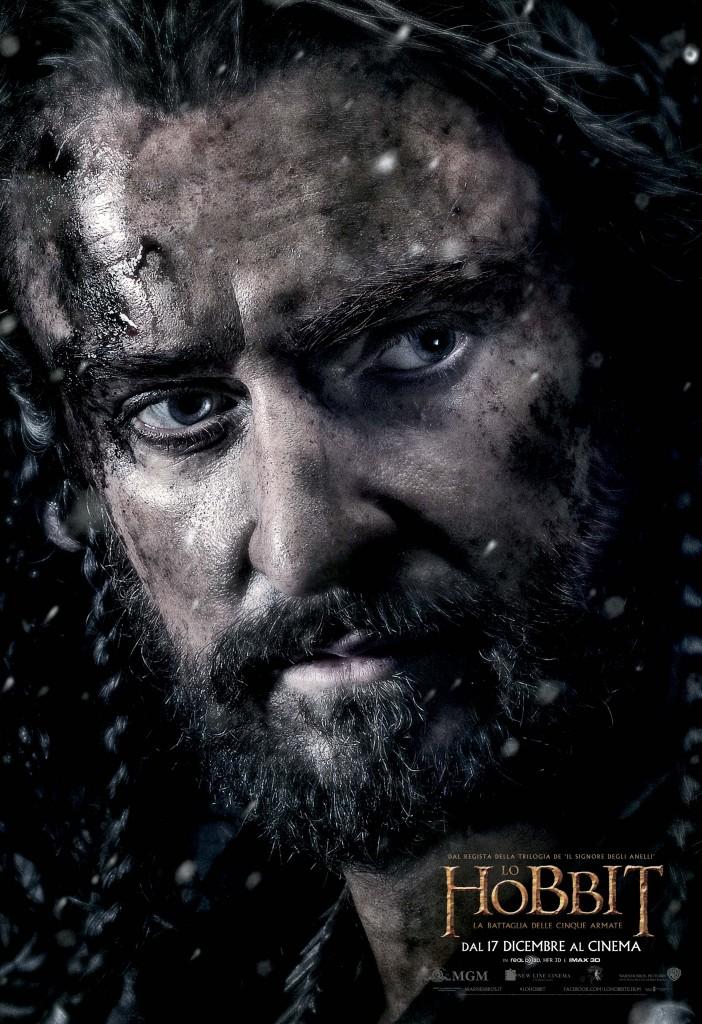 Lo Hobbit La Battaglia delle Cinque Armate Thorin Teaser Character Poster Italia