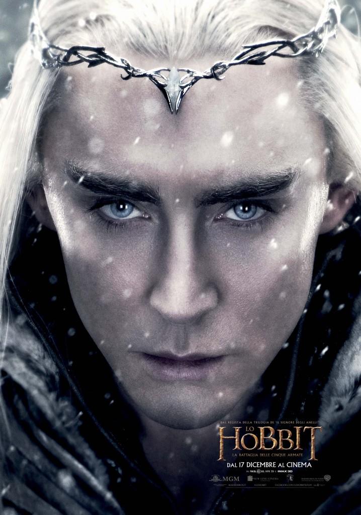 Lo Hobbit La Battaglia delle Cinque Armate Thranduil Teaser Character Poster Italia