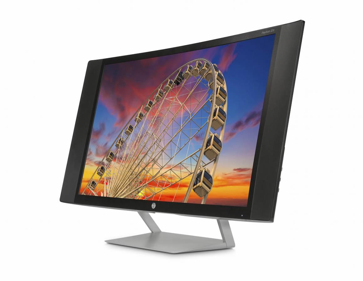 HP nuovi monitor 4k Pavilion 27c 1160x899 - HP lancia nuovi monitor 4k con schermi curvi e ad altissima definizione