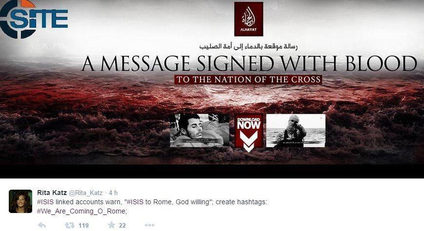 Isis a Roma, il tweet di Risa Katz