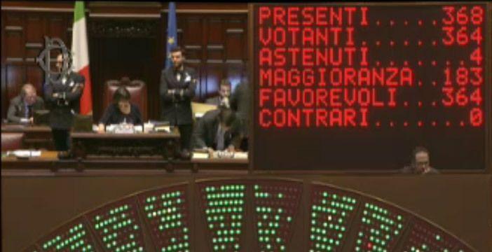 Emendamento Quintarelli voti Camera dei Deputati