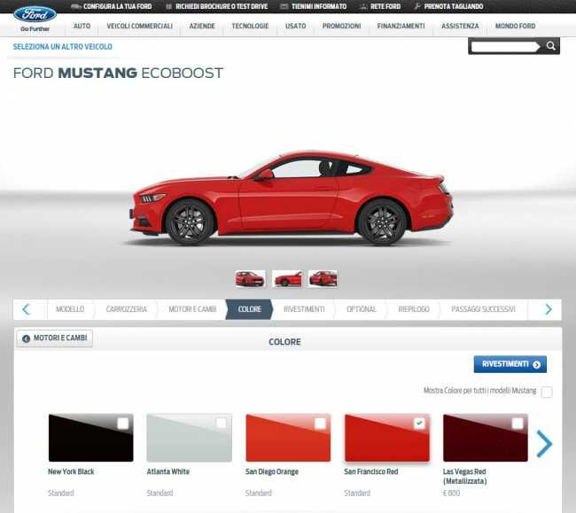 Configuratore e1426672642796 - Ford Mustang in Europa: 500 mila gli accessi per personalizzarla