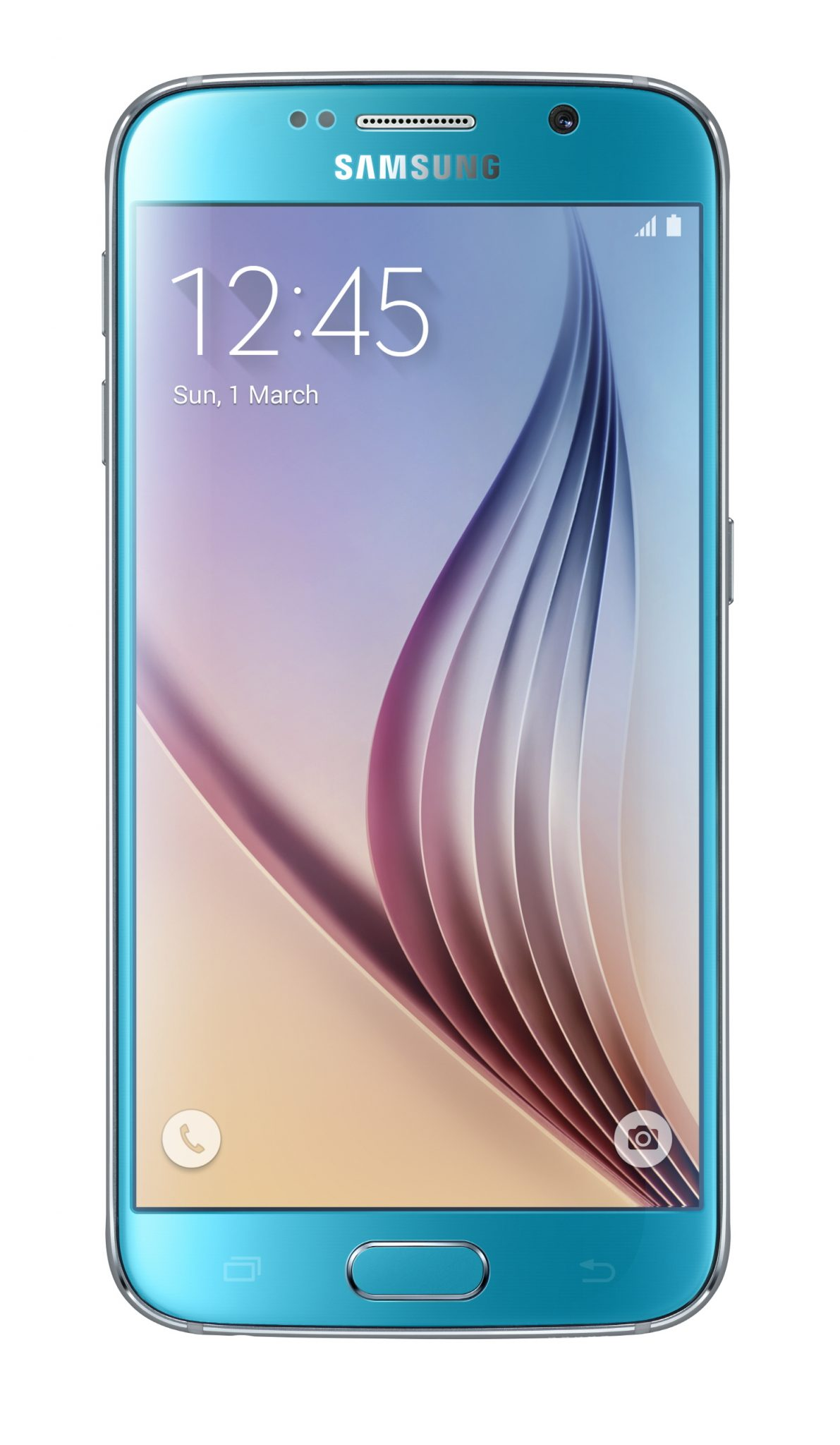 Galaxy S6 Front Blue Topaz 1 - Samsung presenta Galaxy S6 e Galaxy S6 edge