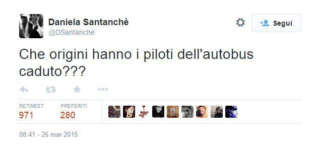 Daniela Santanchè e il tweet sulla tragedia della Germanwings