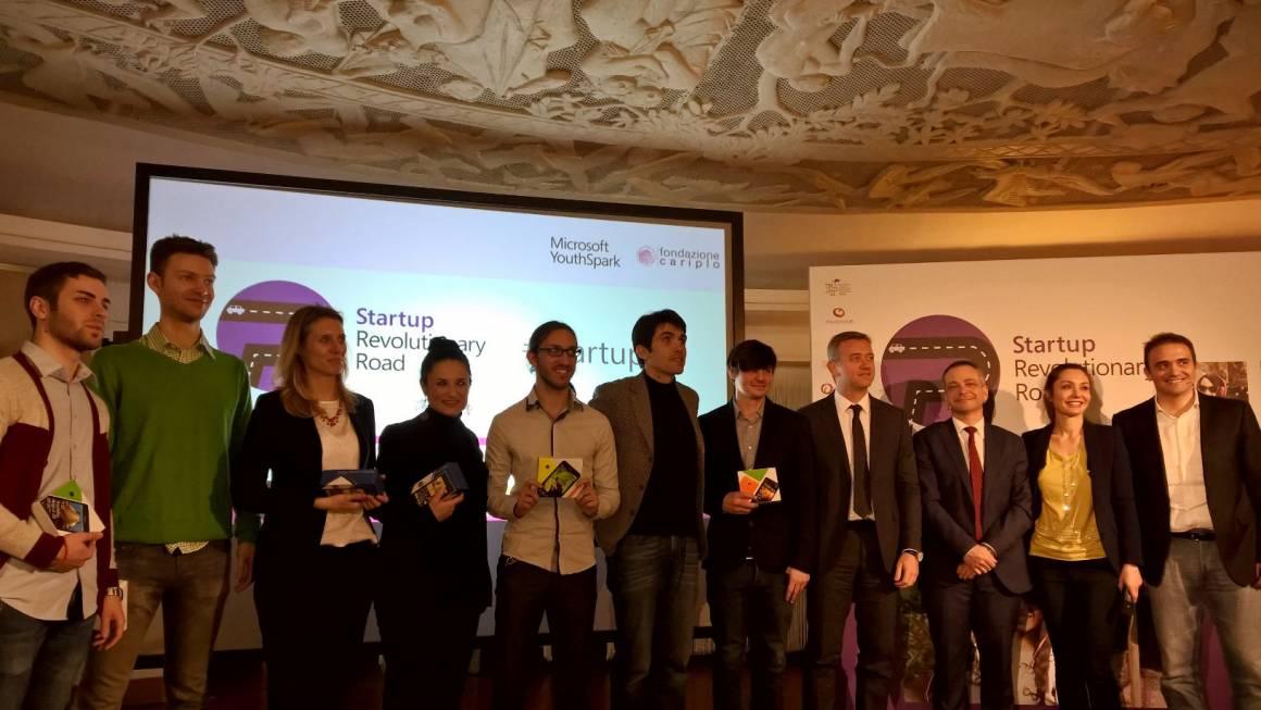 Startup Revolutionary Road premiazione 1160x653 - Microsoft Italia, Fondazione Cariplo e Fondazione Filarete presentano la terza edizione di Startup Revolutionary Road