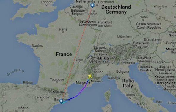 aereo precipitato in francia