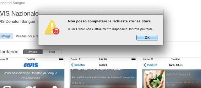 iTunes non funziona