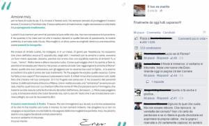 lettera 300x181 - Lettera dell'uomo tradito: Enzo e Lucia, vere corna o puro marketing?