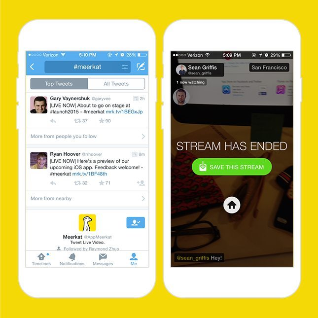 App per live streaming