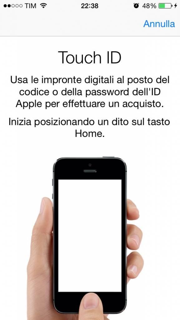 come attivare touch id iphone