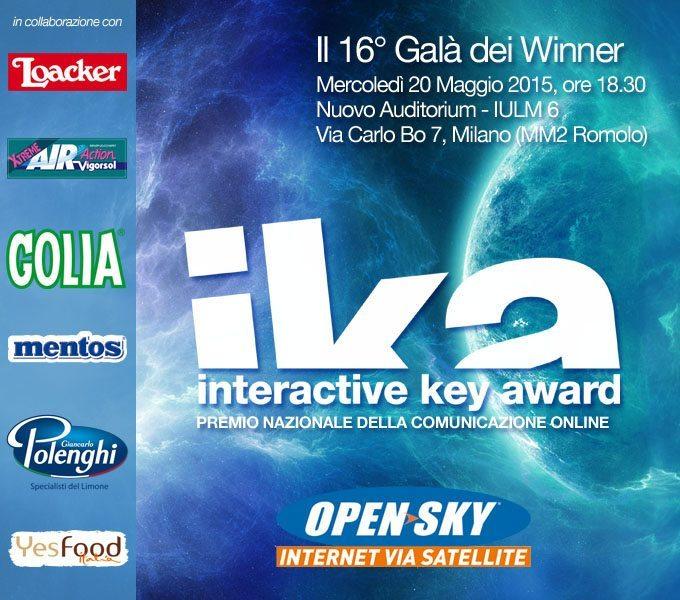 Invito IKA2015 - E poi c'è l'Ika ! Il 16° Interactive Key Award del Gruppo Media Key all'Auditorium IULM