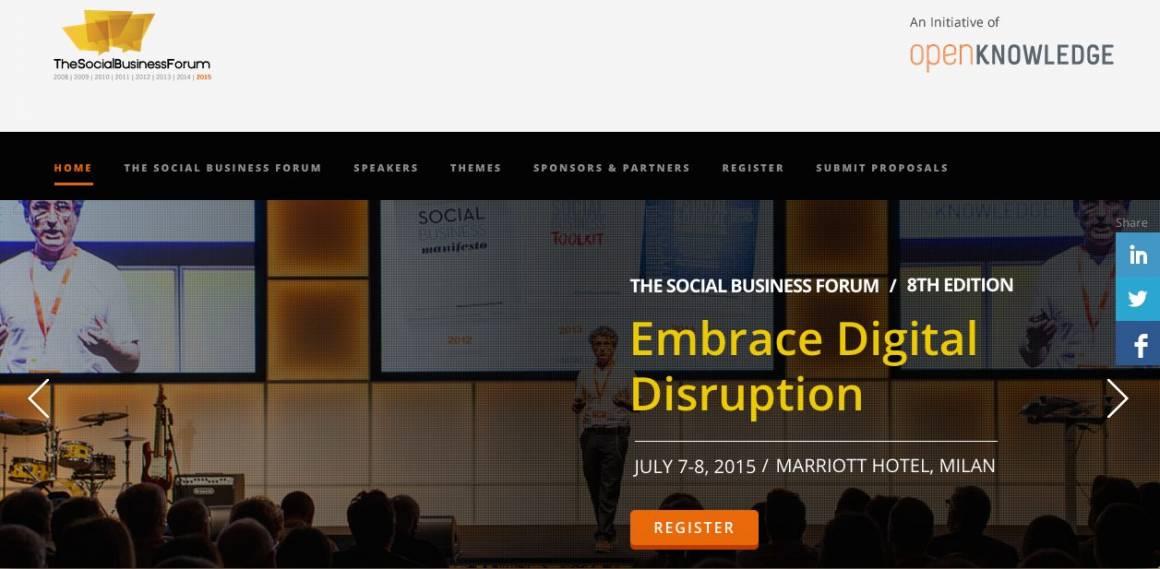 "Sbf 15 1160x569 - ""Embrace Digital Disruption"", Social Business Forum 2015"