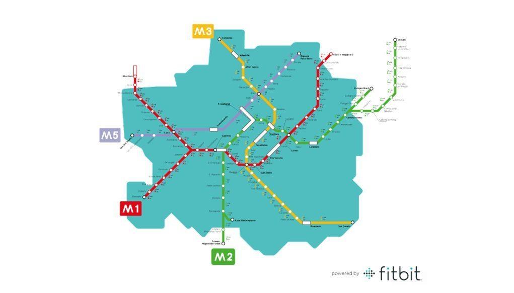 Schermata 2015 05 27 alle 11.28.10 - Metropolitana Milano: Fitbit traccia la mappa pedonale