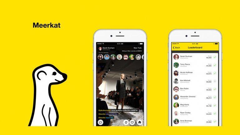 meerlat - Live streaming app Meerkat batte Periscope