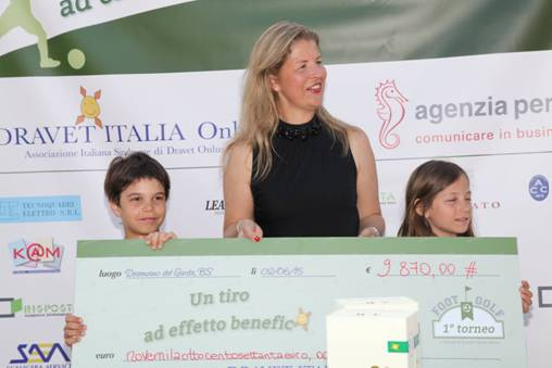 Raccolti 10.000 euro all'evento Dravet Footgolf insieme a Golf People